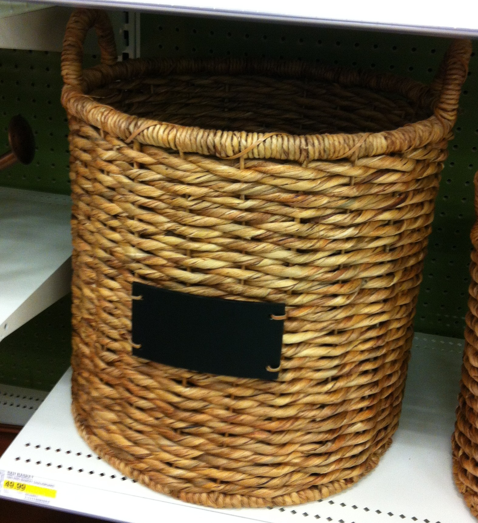 target basket with chalkboard