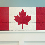 Canada Flag Pallet Sign