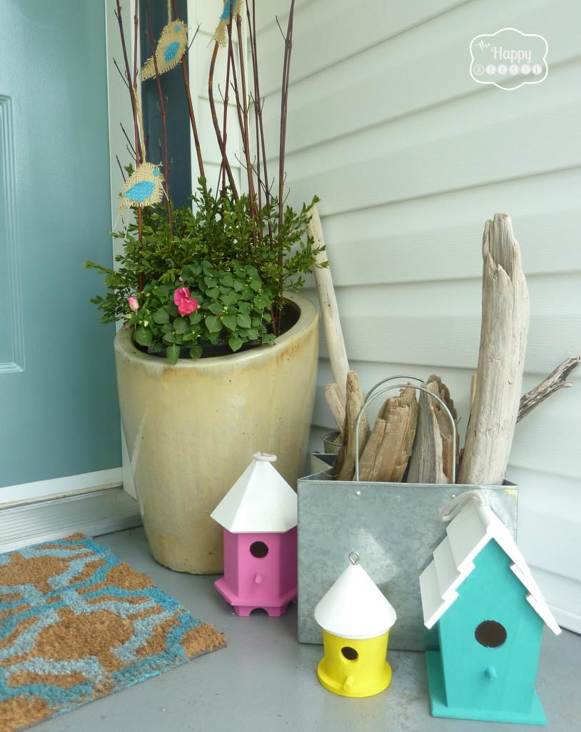 front porch little birdhouses at thehappyhousie