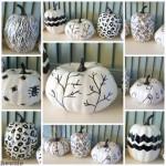 DIY Hand Sketched Sharpie Pumpkins