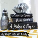 DIY Spray Painted Spell Books