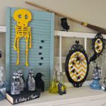 Thrifty Halloween Mantel