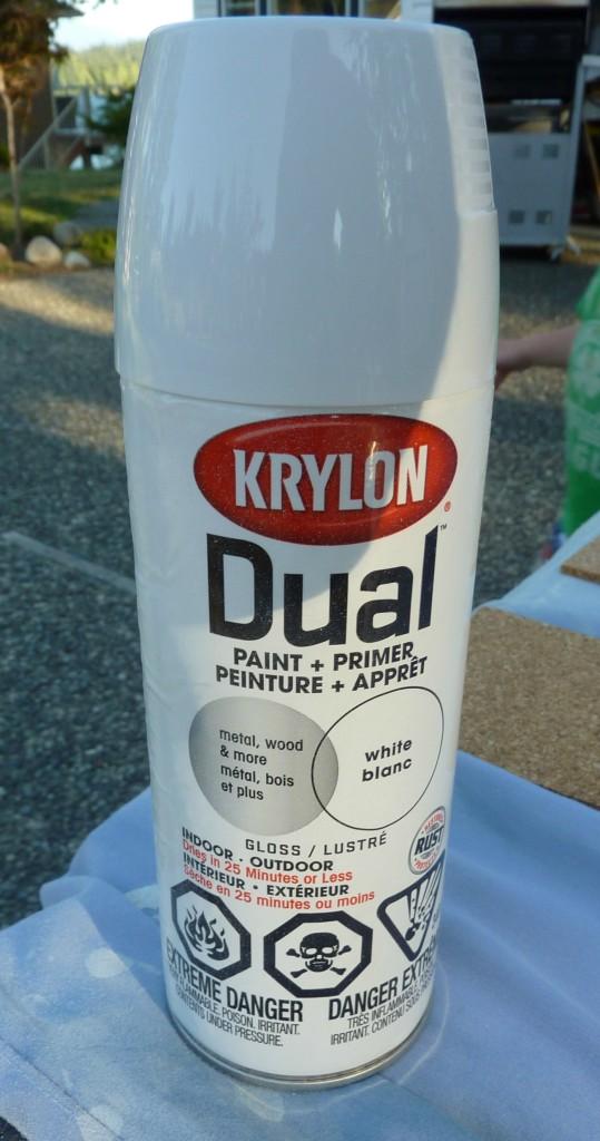 krylon white spray paint