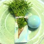 Aqua and Mint Christmas Tablescape