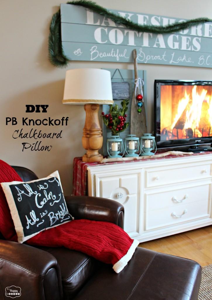DIY PB Knockoff Chalkboard Pillow