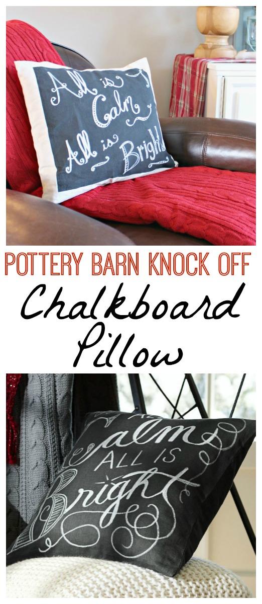 Diy Chalkboard Pillow Pottery Barn Christmas Knockoff