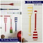 DIY PB Kids Knock Off Oar Decor