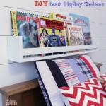 DIY Book Display Wall Shelves {PB Kids Knock Off Collectors Shelves}