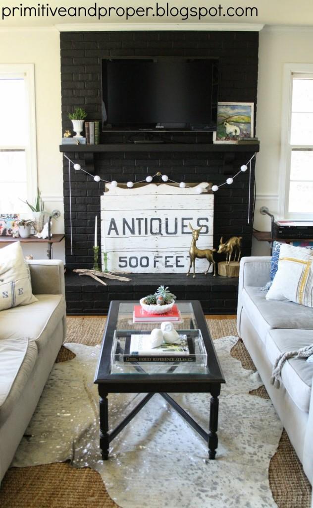 Primitive and Proper living room