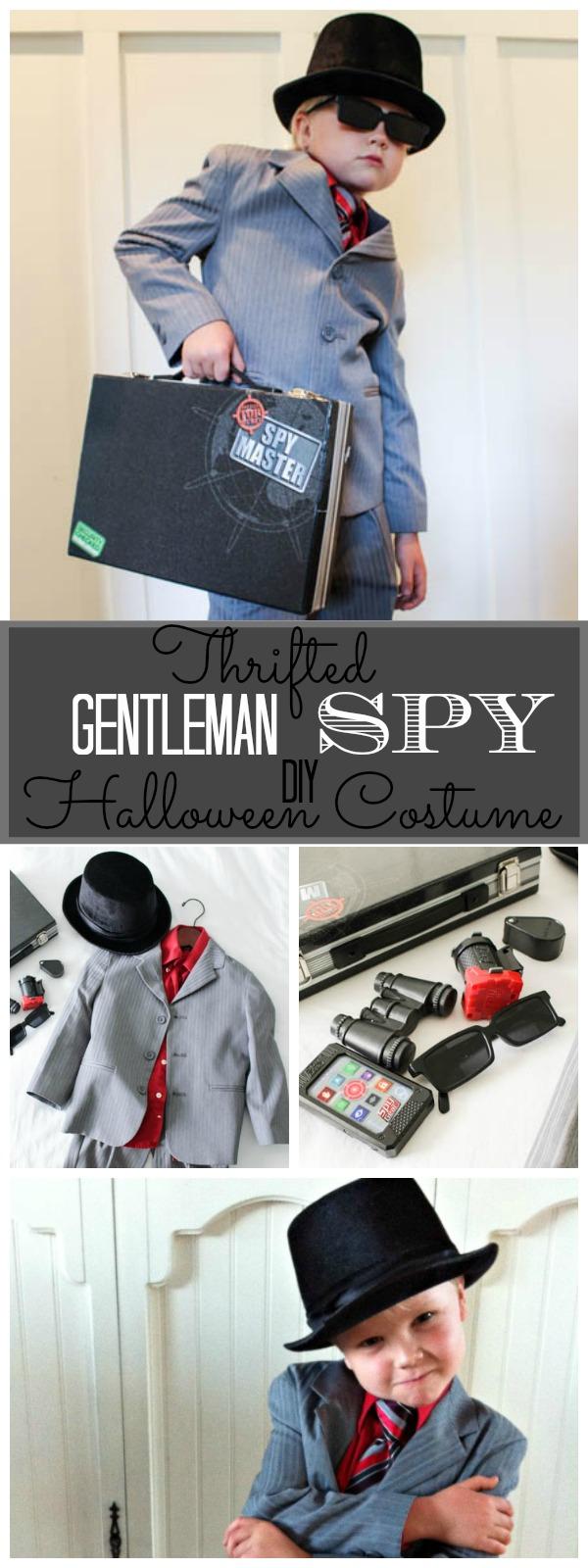 Thrifted Gentleman Spy DIY Halloween Costume at The Happy Housie