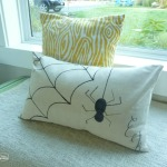 DIY Dropcloth Halloween Sharpie Pillow