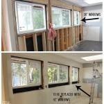 kitchen renovation progress wrong size windows