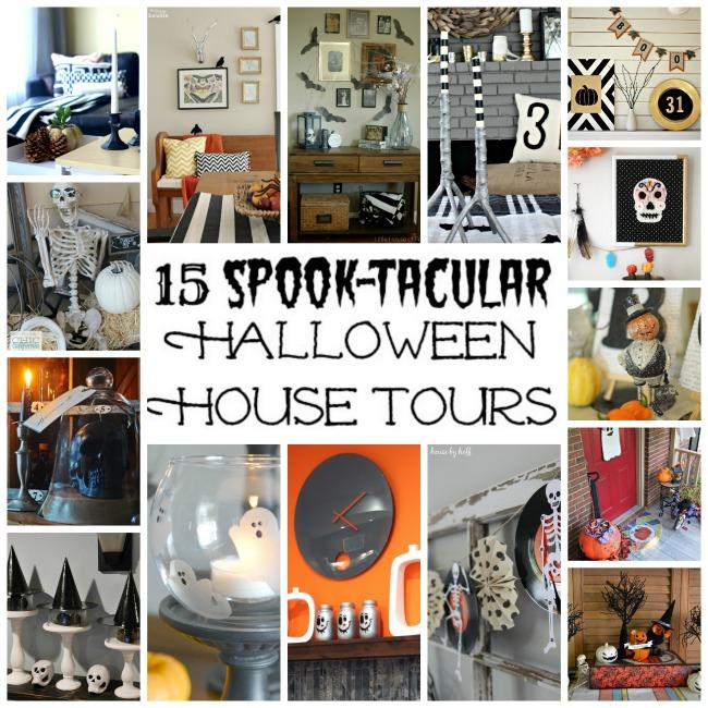 15 Spook-tacular Halloween House Tours poster.