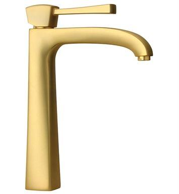 A gold faucet.