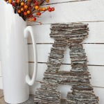 DIY Twig Letter