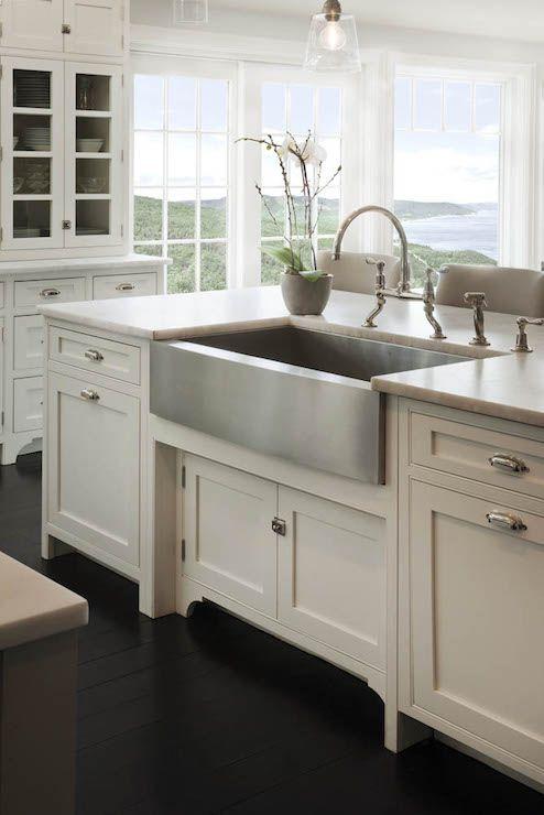 Stainless Steel Farmhouse Style Kitchen Sink Inspiration The Happy Housie