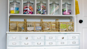 Dresser for Craft Room Storage Makeover at thehappyhousie.com-2