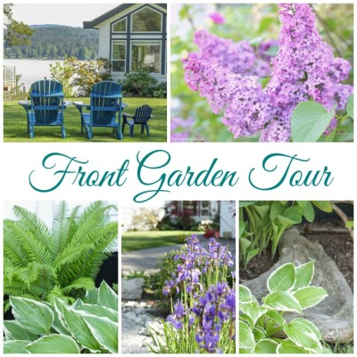 Our Front Garden Tour at thehappyhousie.com