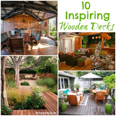 10 Inspiring Wooden Decks at thehappyhousie.com