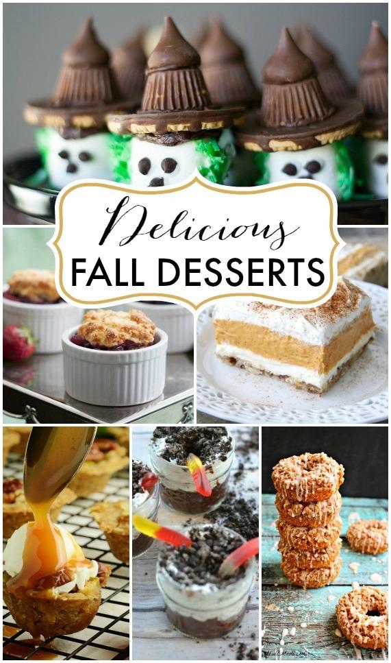 Delicious Fall Desserts poster.