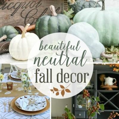 Beautiful Neutral Fall Decor Ideas