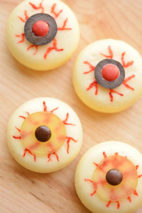 spooky babybel eyeballs