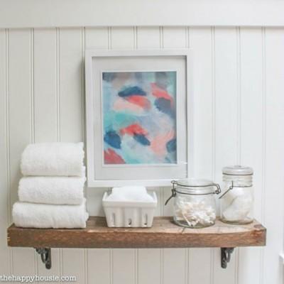 Easy DIY Rustic Shelf Install {ORC Week 5}