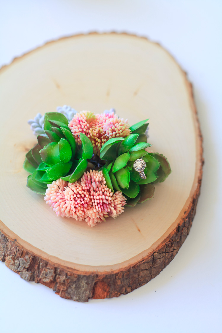 1 spring succulent centerpiece