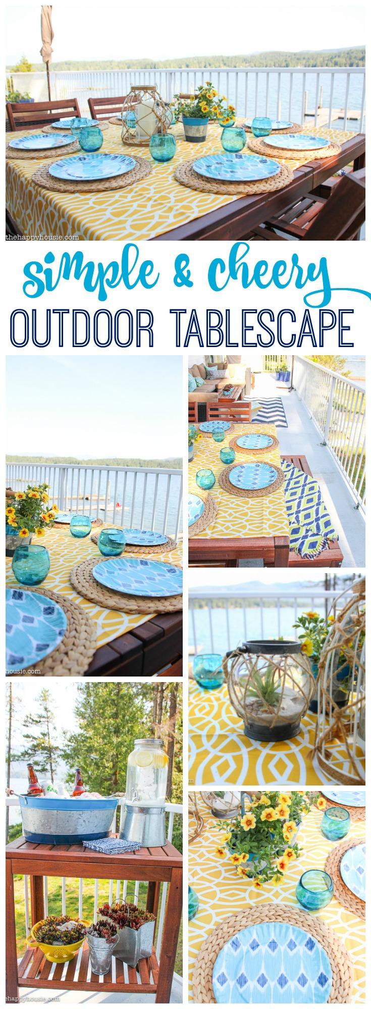 Simple and Cheery Outdoor Tablescape #alfrescoatlast