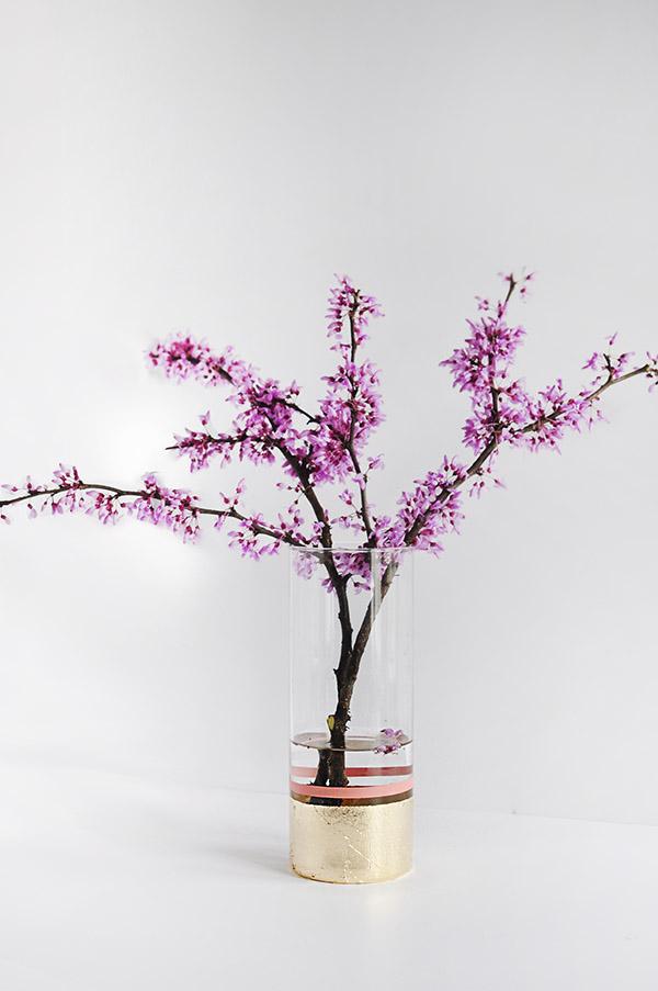 WIW DIY-Gold-Foil-Flower-Vase
