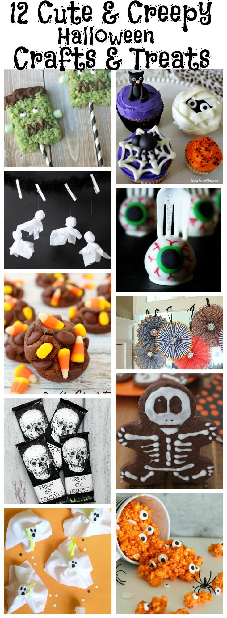 12 Cute & Creepy Halloween Crafts & Treats {Work it Wednesday} | The ...