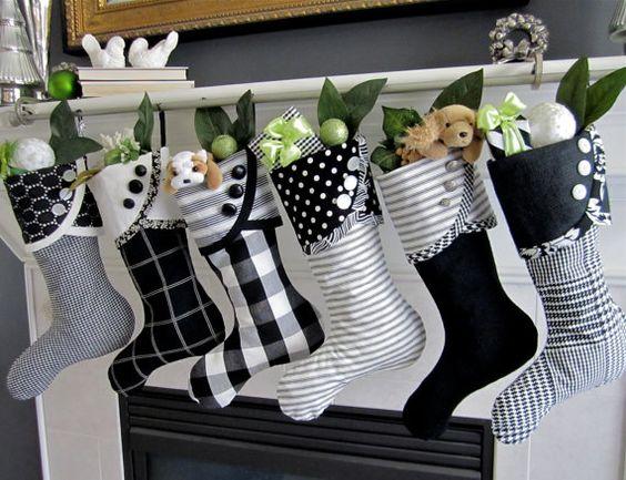 black and white stockings