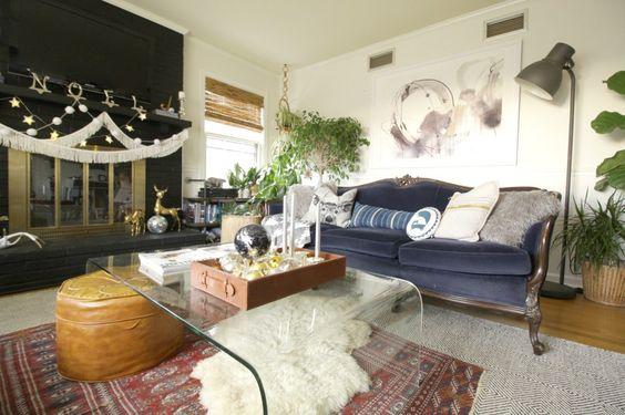 Boho Modern Living Room: Modern & Boho Christmas Style Series
