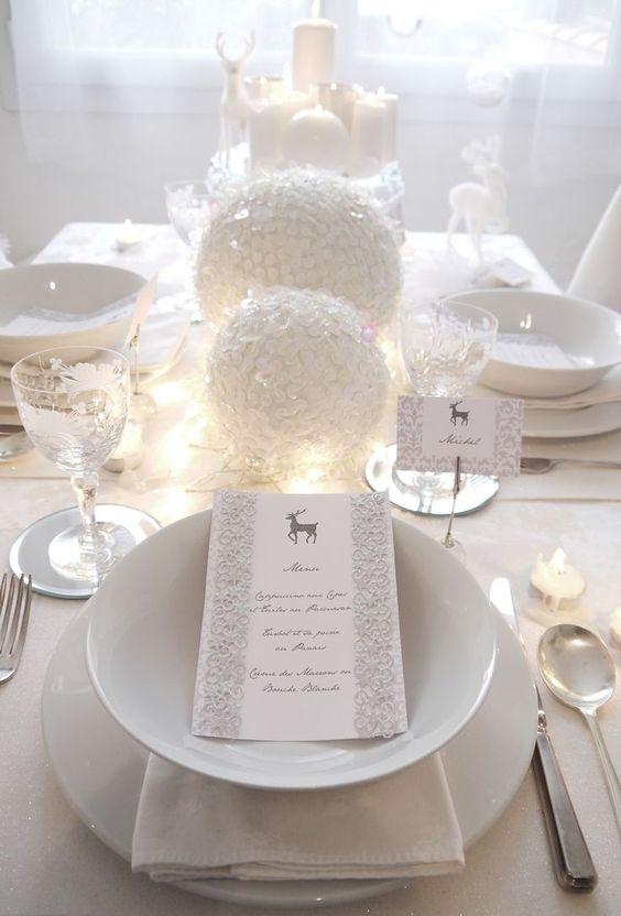 White Christmas table