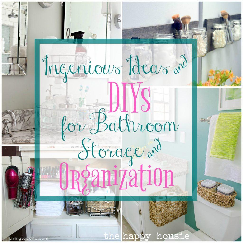 ingenious ideas diys for bathroom organization storage the happ