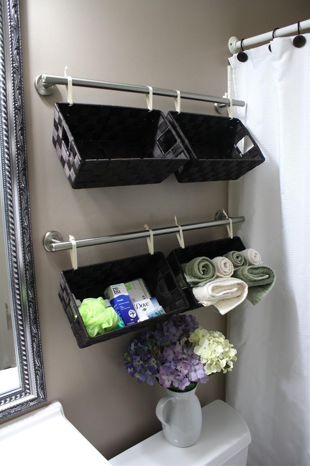 Bathroom wall organizers - Hang Baskets On The Walls