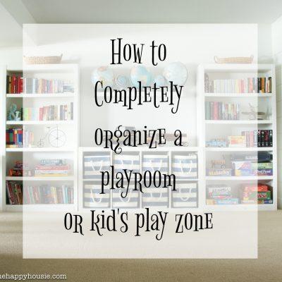 Three Simple Steps to an Organized Playroom