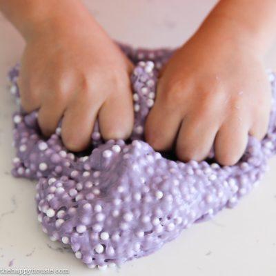 DIY Lavender Sensory Slime