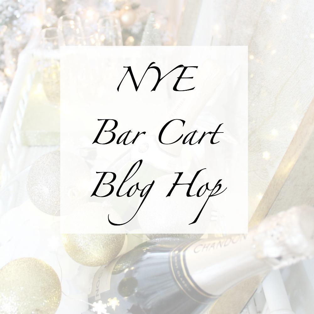 NYE Bar Cart Blog Hop poster.