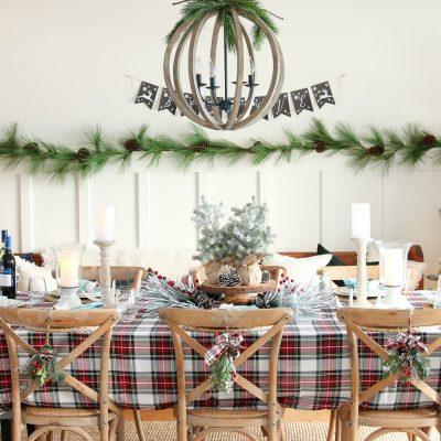 Classic Tartan Plaid Christmas Tablescape Decor