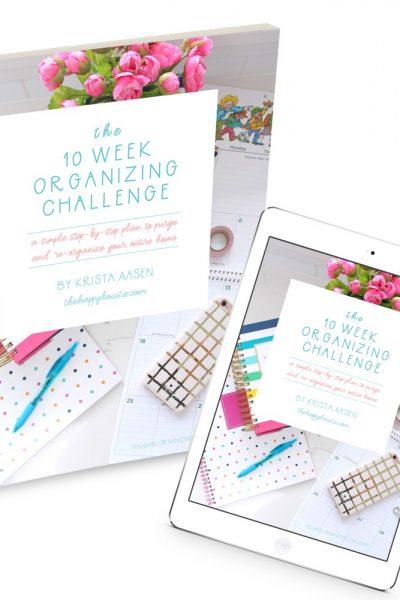 The 10 Week Organizing Challenge Ebook Release!
