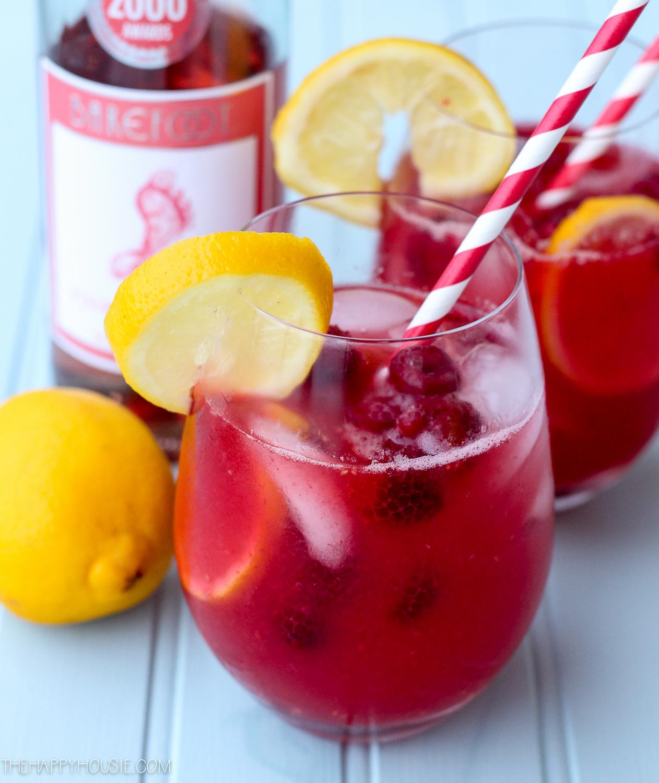 raspberry lemon Rose Sangria recipe a refreshing summer drink