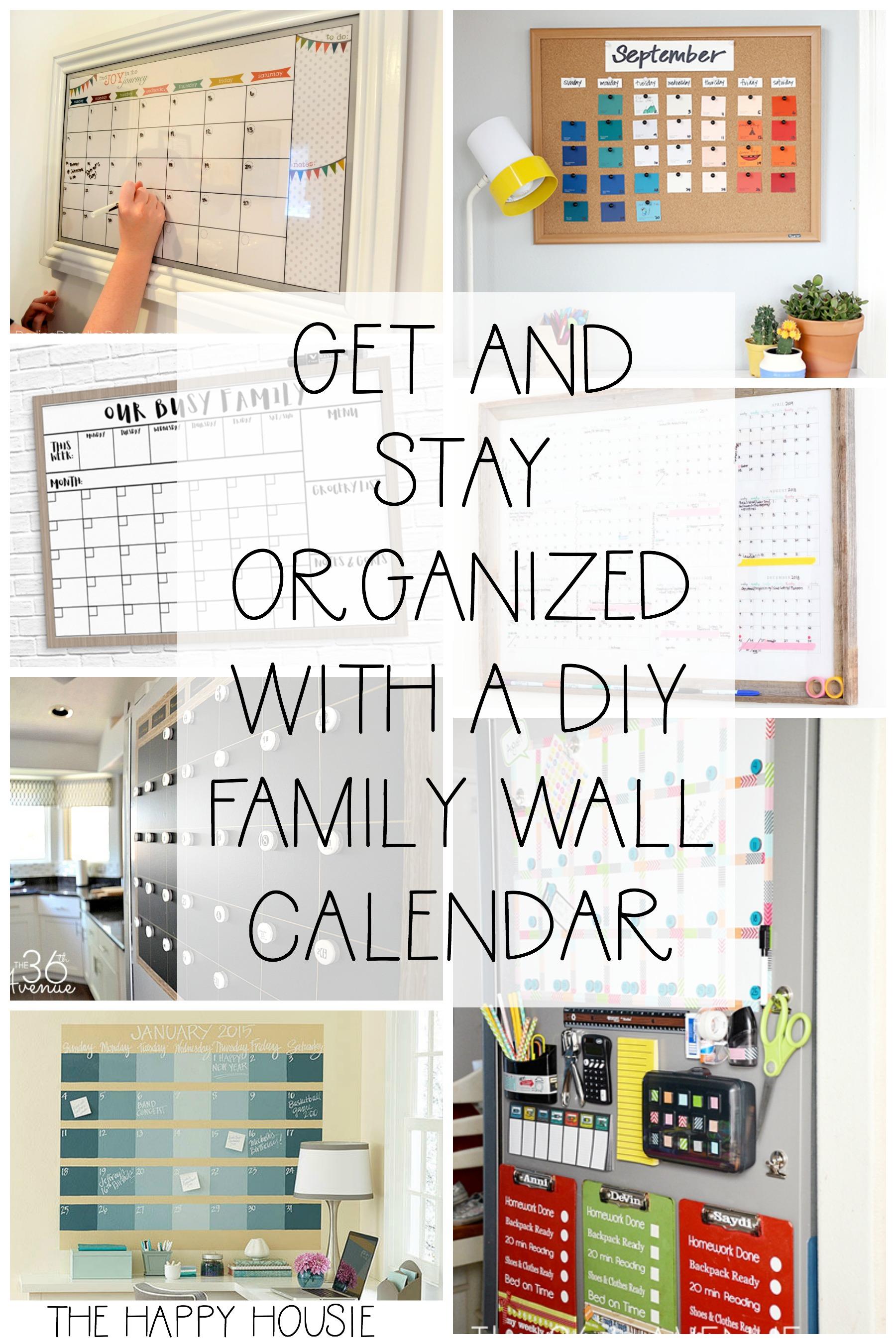 20 Fab DIY Family Wall Calendar Organizers | The Happy Housie