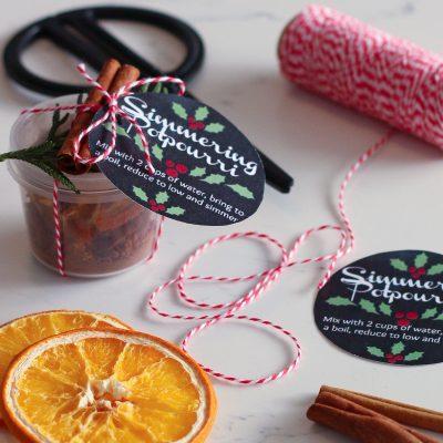 Homemade Simmering Potpourri DIY Gift Idea