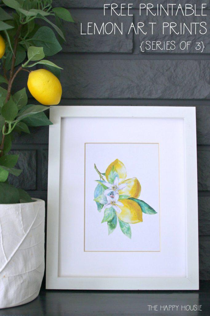 Free Printable Lemon Art Prints graphic.