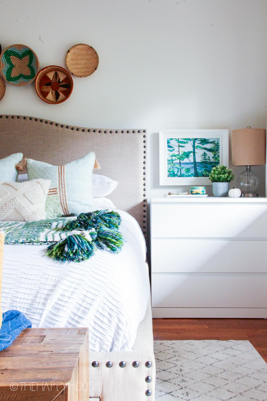 Boho Coastal Master Bedroom Reveal The Happy Housie