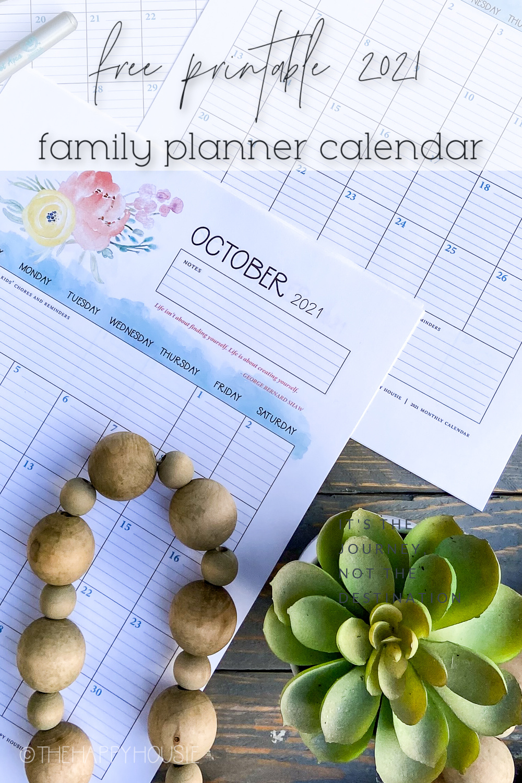 a free printable 2021 calendar