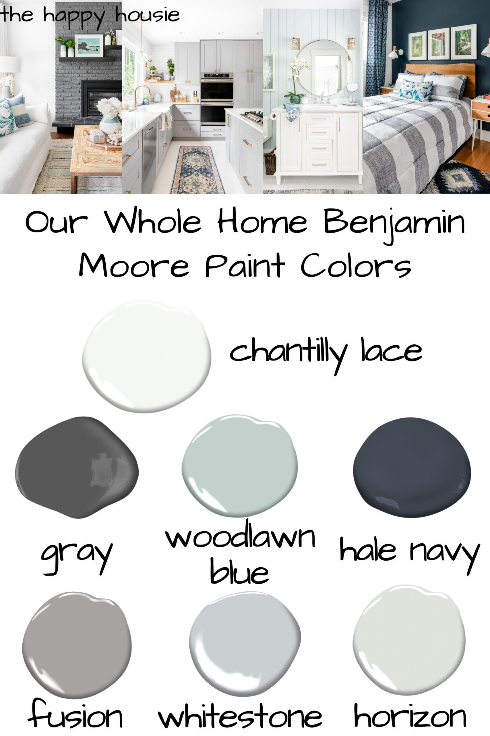 Whole Home Benjamin Moore Paint Color Scheme   The Happy Housie